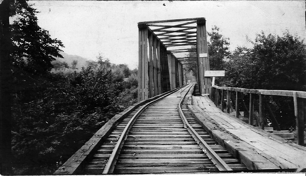 Goshen bridge gone in 1913 flood.