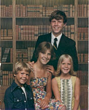 Don Hanlon's children: Steve, Dawn, Mike, Starr -- July 1977