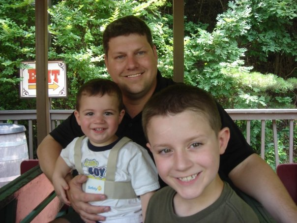 Steve with Liam & Emerson -- 2009
