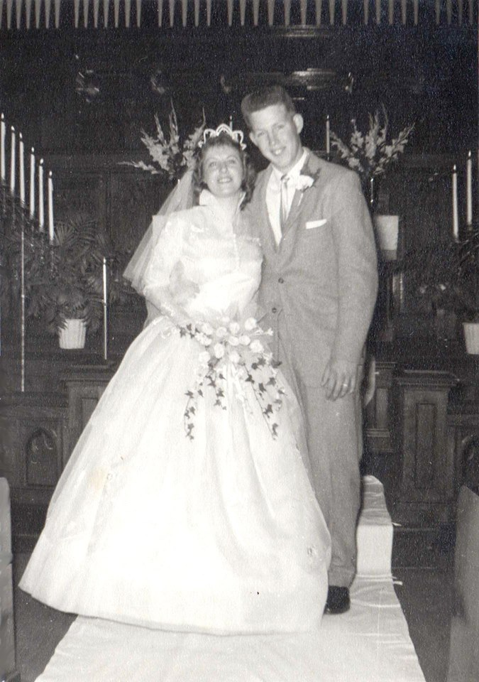 Bonnie & Don Hanlon wedding -- 1961